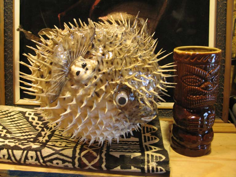Puffer fish lamps for sale online tiki central for Puffer fish lamp